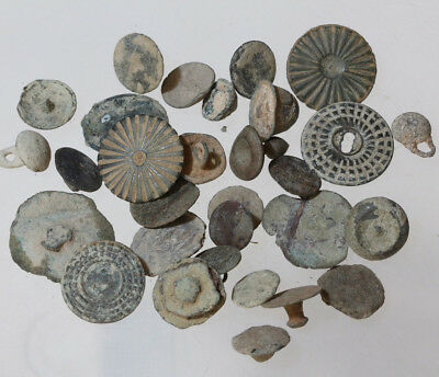 lot Collection Of 30 Spanish Bronze Buttons and pendants Circa 1800 AD