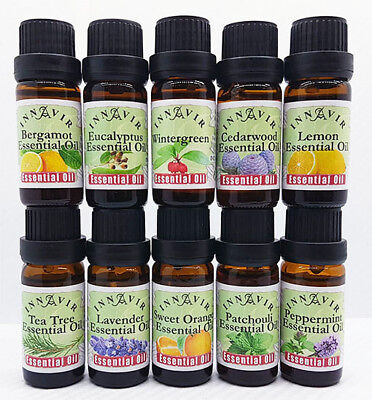 100% Pure & Natural Aromatherapy Essential Oils 10ml - Buy 4, get 1 free