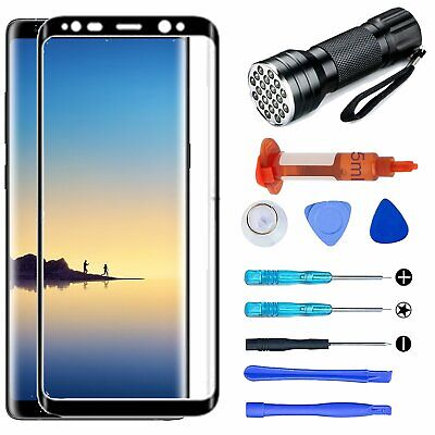 For Samsung Galaxy Note 8 Front Touch Screen Glass Lens Replacement Tool UV Glue