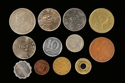 Asian & Middle East 12 Piece Lot of Coins Money Currency