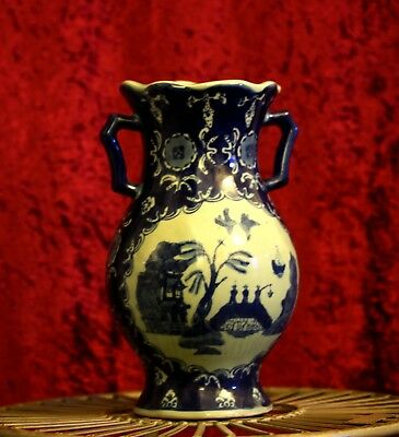 Antique Oriental Large Blue and White Vase