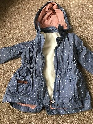 Girls Sergeant Major Designer Coat Spring Removeable Jacket Age 3 Years chambray