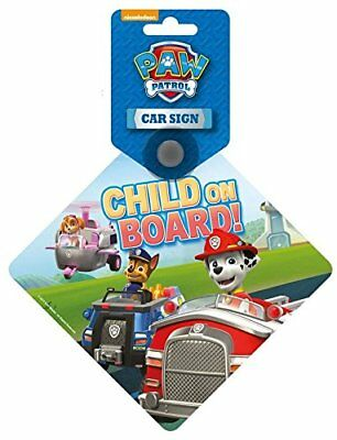 Paw Patrol 'Child On Board' Car Safety Window Sign. Suction Fitting. Brand New!