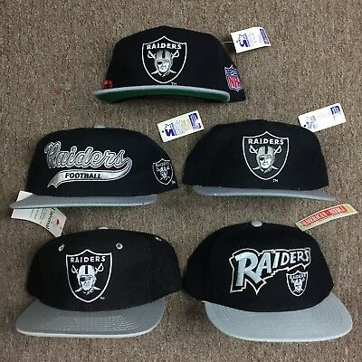 4816f4c6a Vintage Los Angeles Raiders Oakland Starter Snapback Lot 100% Wool New With  Tags