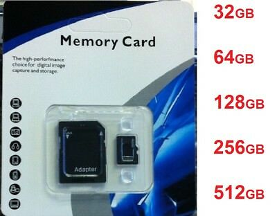 32/64/128/256/512GB Micro SD SDXC HC TF Flash Memory Card Class 10 Lot For Phone