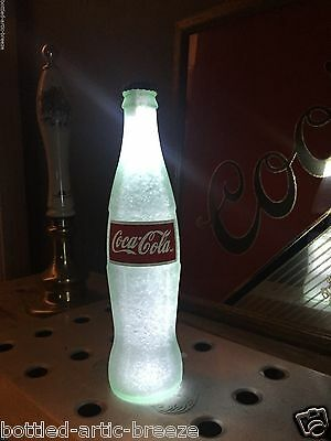 Coca Cola Coke White 12 oz Beer Bottle Light LED Bar Pool Man Cave Neon Bar
