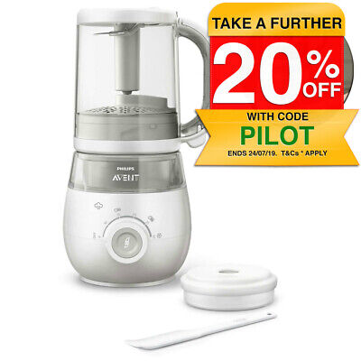 Philips Avent SCF875 4-in-1 Steamer Blender Healthy Baby Food Maker Fruits/Juice