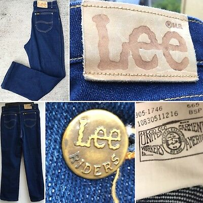 "Vintage Lee Riders Jeans High Waist Made In USA Sz 14 30"" Waist Up To 31"""
