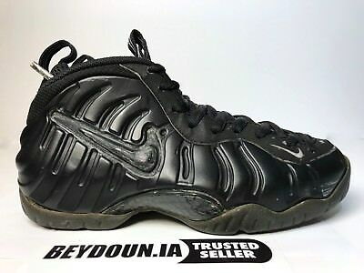 164a6d291b11 Nike Air Foamposite Pro Blackout Stealth 630304-002 2000 Anthracite Size 6
