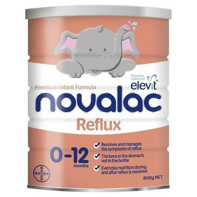 Novalac Anti Reflux Baby Infant Formula 800g 0-12 Months BAYER ELEVIT NEW *MVC*