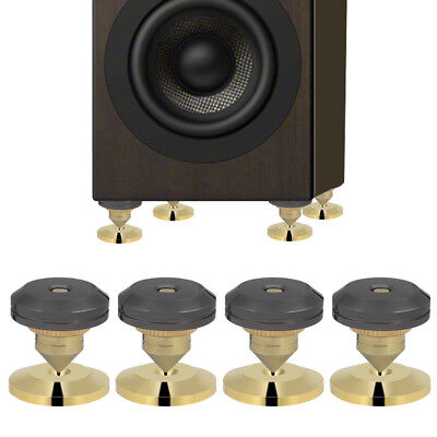 4Pcs Speaker Isolation Spikes Stand Feet HiFi AMP CD Cone with Base Pads 28x25mm
