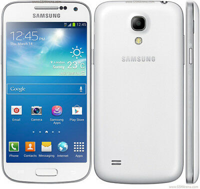 "Unlocked 4.3"" Samsung Galaxy S4 Mini GT-I9195 4G Smartphone Radio GPS 8GB -White"
