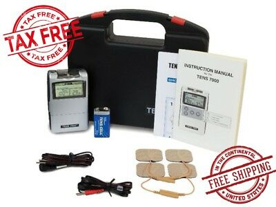 Tens Unit Electric Massage Pulse Relief Muscle Stimulator Nerve Pain Therapy LCD