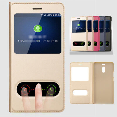 For Meizu M5 M6 Note View Window Flip Luxury Quick Answer Leather Case Cover