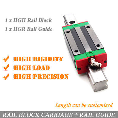 HIWIN Precision HGR Linear Slide Rail+ 1pc HGH15/20/25/30 Carriage Block Router