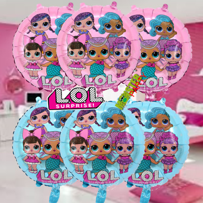 "18"" LOL Surprised Doll Foil Emoji Balloons Party Birthday Decorations Hellium"