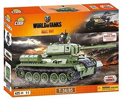 Panzer T-34/85 World of Tanks Konstruktion Spielzeug Bausteine kleine Armee