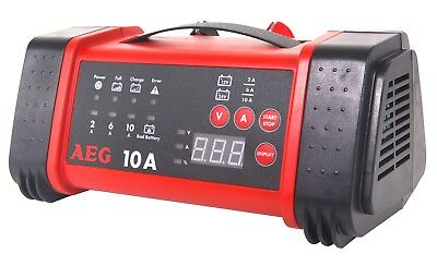 Car Battery Charger 12V 10A Trickle Charge 24V Truck Flat Batteries Portable AEG