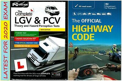 LGV PCV DSA DVSA THEORY&HAZARD TEST PC DVD 2019 & Highway Code Book FcpcvHw