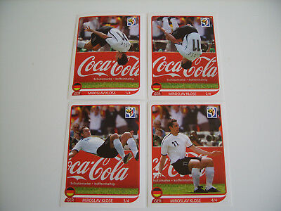 Panini World Cup 2010 South Africa, complete Set Klose-Salto ( 1-4 ), top !!!