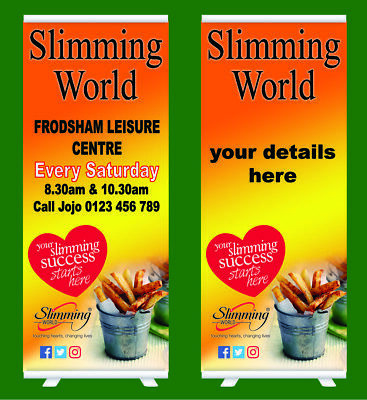 Slimming World Roller Banner Bespoke Text Printed  Pull Pop UP banner Exhibition