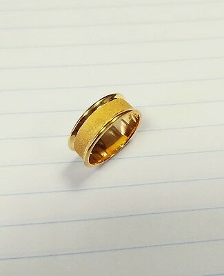 BYZANTINE RING 22k GOLD PLATED US SIZE 6.5