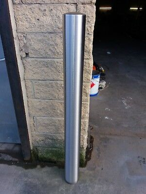 Stainless Bollard Grade 304/316 114mm dia Barrier Security Safety Drive 1200mm