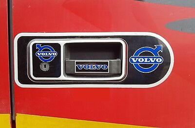 Set of 2 Handle Doors Silicone Stickers Decal Decoration For VOLVO FH/FM