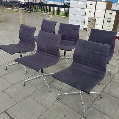 Eames Vitra Aluminium  Swivel Office Chair Grey Hopsack Excellent Condition!