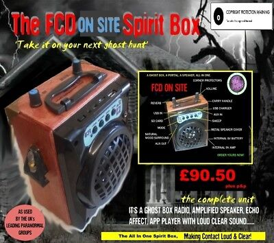 FCD MK4  communications spirit ghost box Paranormal equipment Mega July SALE
