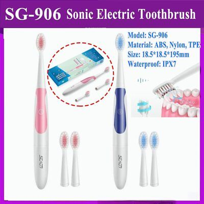 Seago SG-906 Sonic Electric Toothbrush Waterproof IPX7 for Adult Oral Care GP