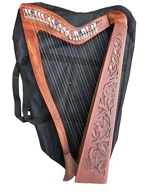 27 Strings Harp with Levers & Extra Strings, Carry Soft Bag & Tuning Key