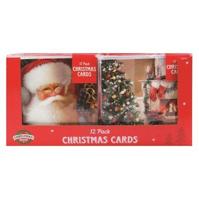 Traditional Christmas Cards - Pack of 12 with envelopes