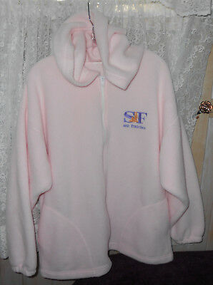 Women Pink Soft Fleece Hoodie Jacket Zippered Long Sleeve – S Fran Xl Or 2X