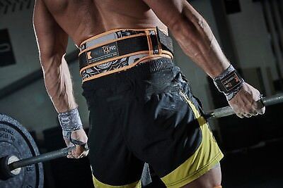 Weight Lifting Lumber Back Support Belt by Kinetic RX Pro CrossFit and Fitness.