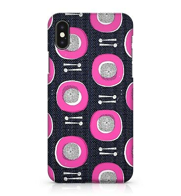 Dining Kitchen Table Pink Dinner Plates Silver Spoon Pattern Phone Case Cover