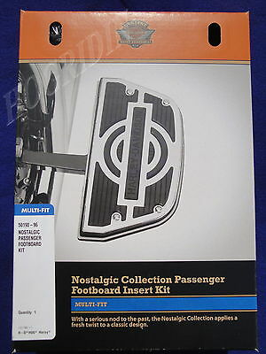 Harley touring softail nostalgic passenger footboard floorboard inserts kit new