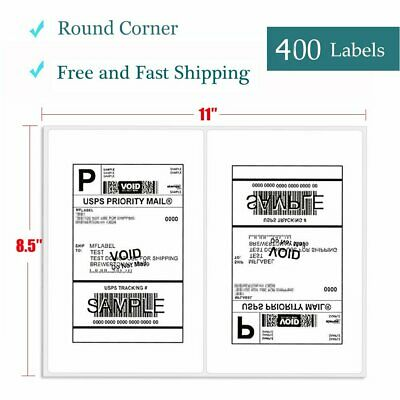 400 SELF ADHESIVE 8 5 x 11 Shipping Labels for UPS USPS FEDEX PAYPAL