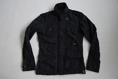 G-STAR RAW MENS S small BLACK MILITARY STYLE FIELD JACKET