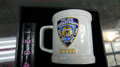 Embossed Nypd City Of New York Police Department Coffee Mug White