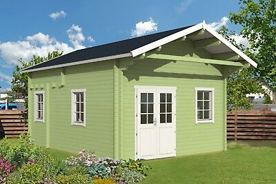 14ft x 19ft  Log cabin garden pool guest house building kit