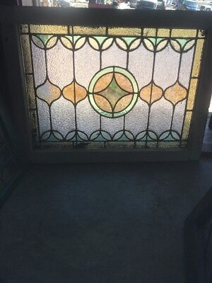 SG 2187 antique stained and textured glass window 24.5 x 32.5
