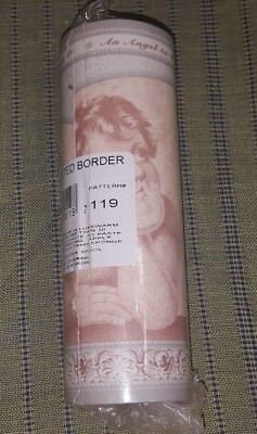 NIP ANGELS CHERUBS Pre Pasted Wall Paper Border 4 Yards Pattern #119 SEALED