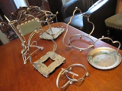 Antique Silver Plate Condiment Stand / Rack / Holder