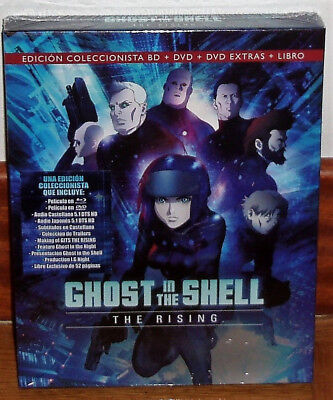 Ghost In The Shell The Rising Blu-Ray+Dvd+Dvd Extras+Libro Nuevo (Sin Abrir) R2