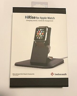 Twelve South HiRise stand for Apple Watch Black Metal charging dock Apple Watch