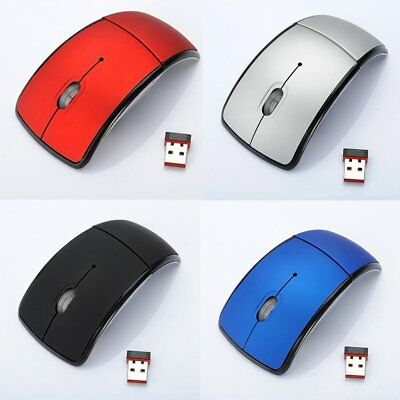 Wireless Mouse 2.4Ghz Computer Foldable Optical Mice USB Receiver for Laptop PC