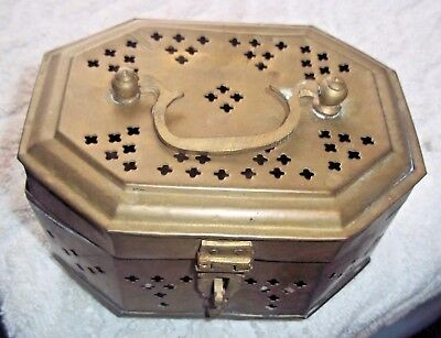 """Vintage Brass Cricket Box 3"""" Tall X 8"""" Long X 4 1/2"""" Wide India"""