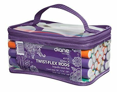 Twist Flex Flexi Rods Foam Hair Curlers Styling Tools 42-pack Diane By Fromm