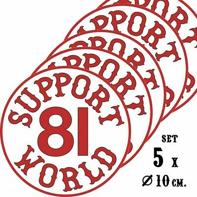 49 Hells Angels 5 aufklebers Support 81 World 9cm. Rund